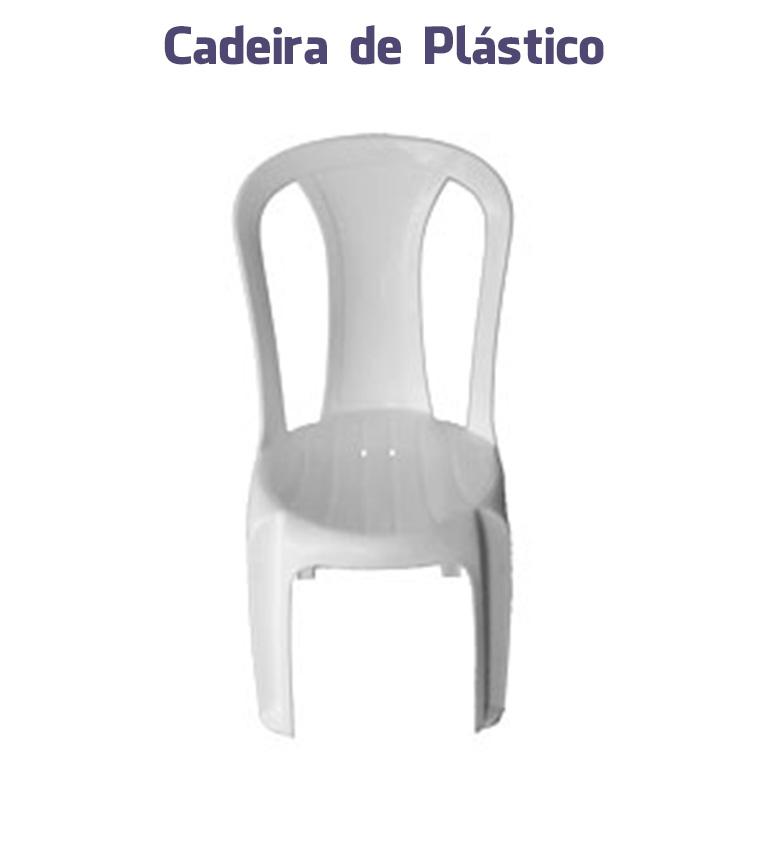 Cadeiras de Plástico Branca sem Braço