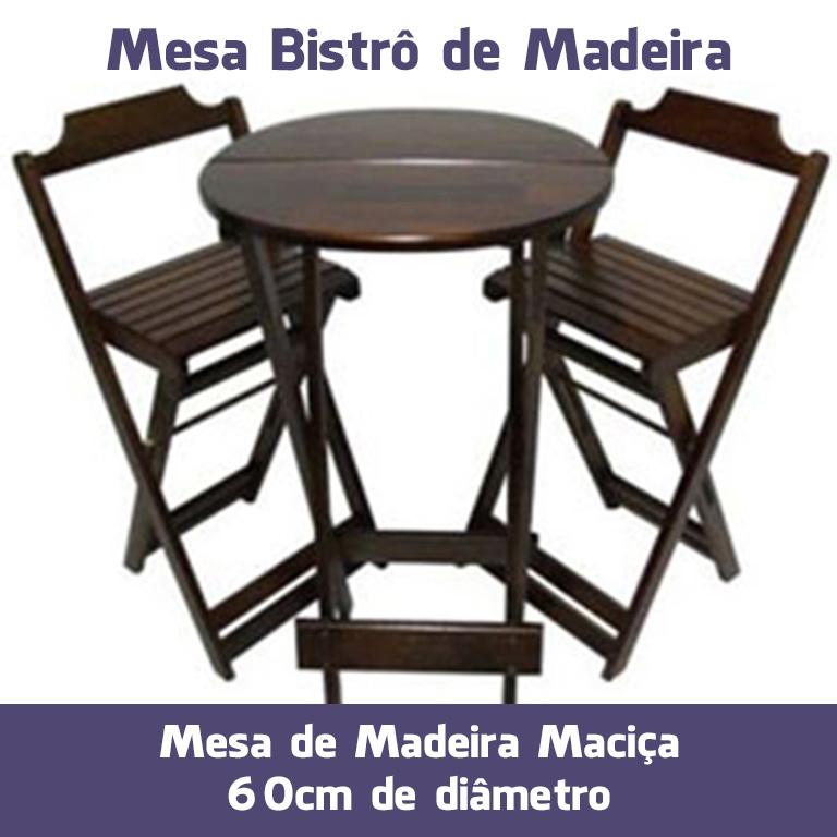 Mesa Bistrô de Madeira