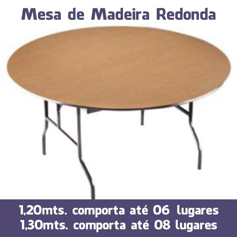 Mesas de Madeira Redonda para Festas