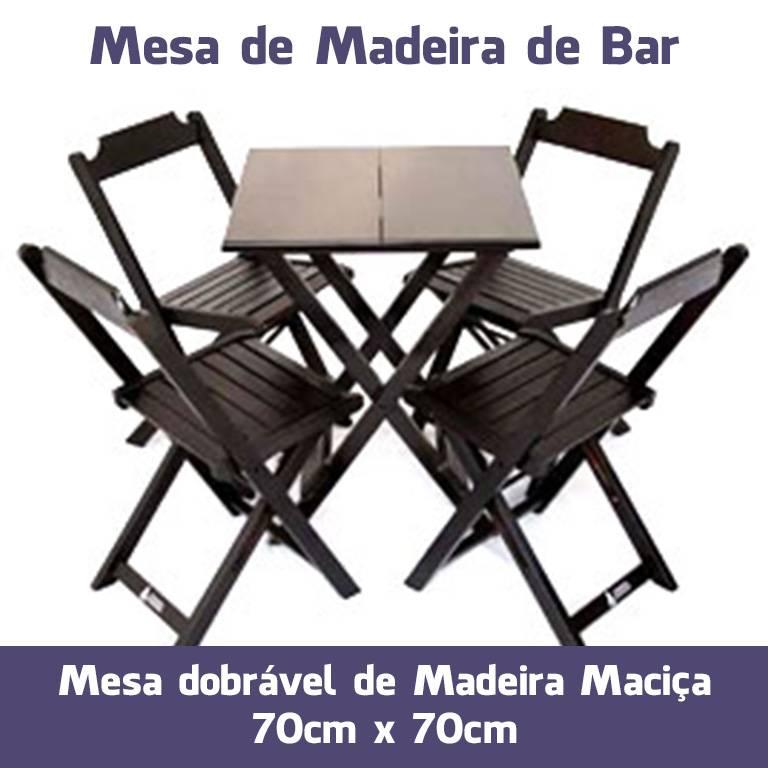 Mesa de Bar de Madeira