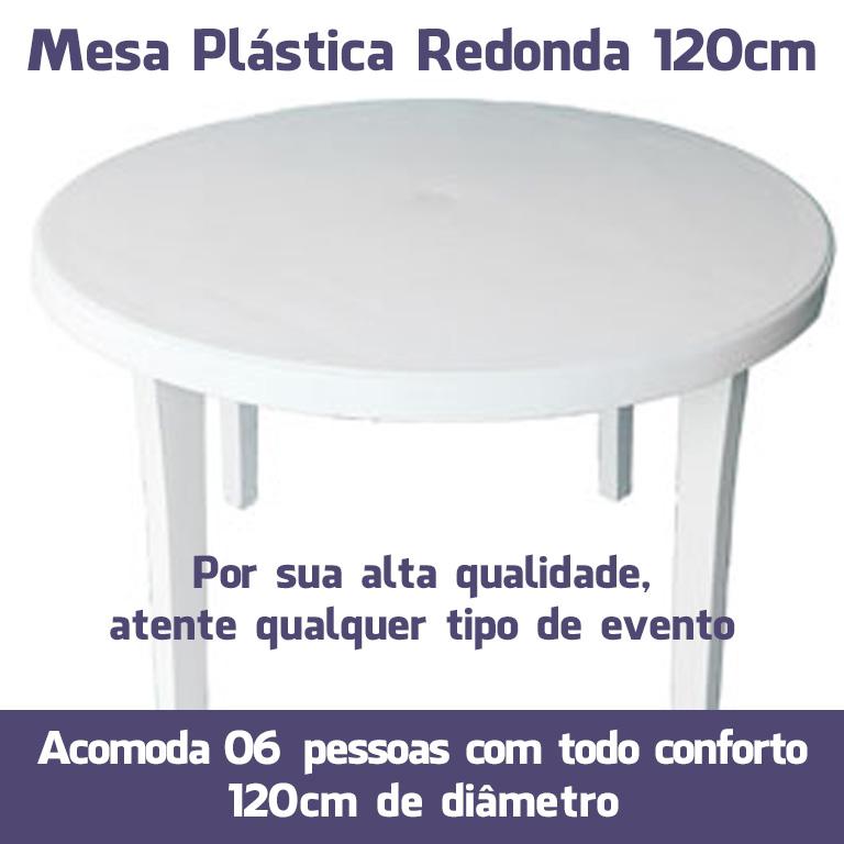 Mesa Plástico Redonda 120cm