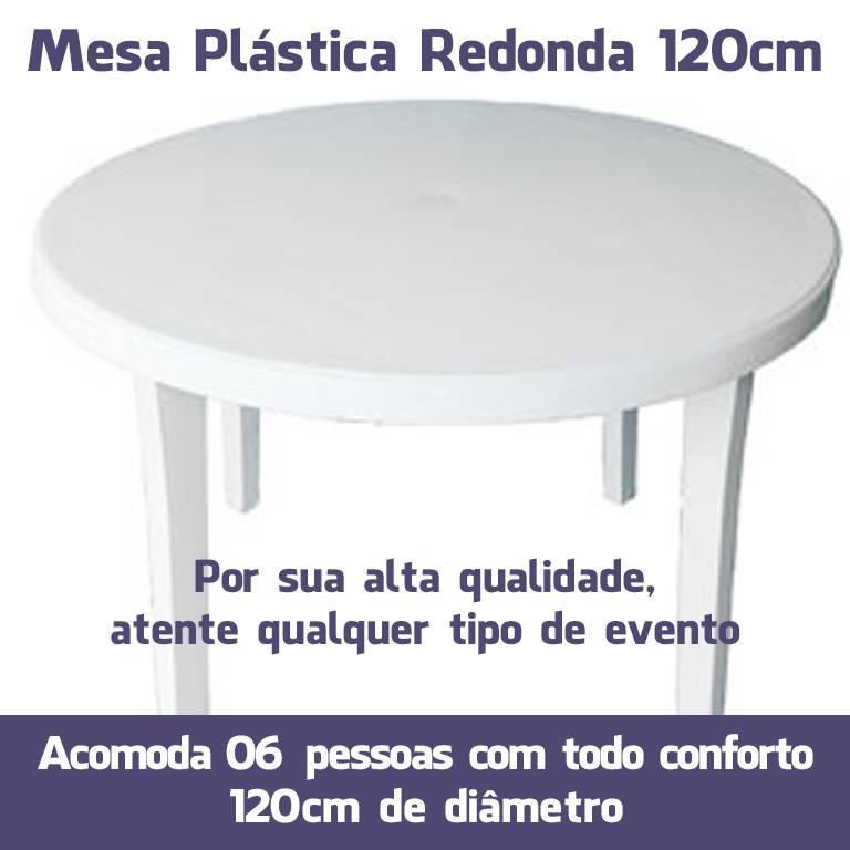 Mesa Plástica Redonda 120cm