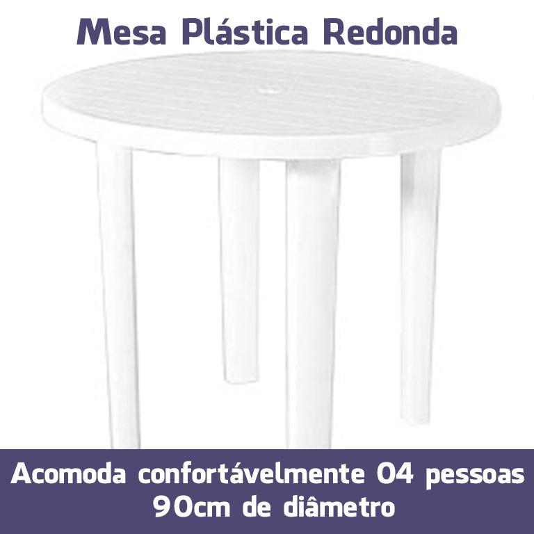Mesa Plástico Redonda