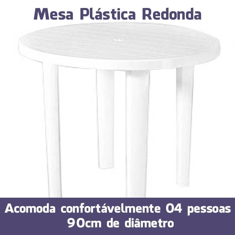 Mesa Plástica Redonda 90cm