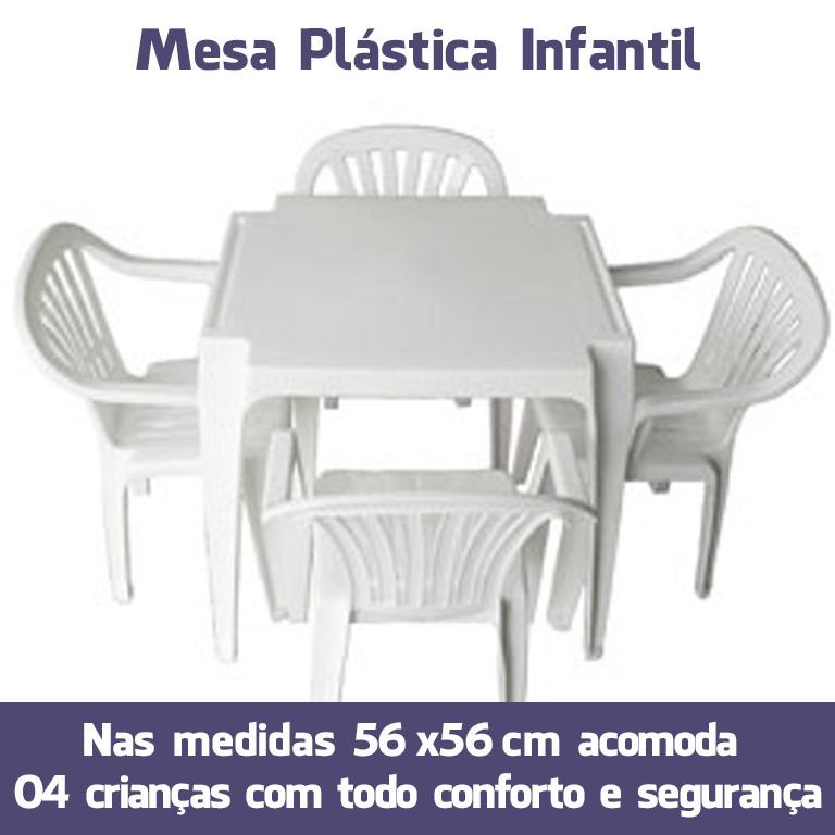 Mesa Plástica Infantil